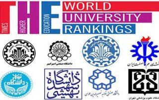 رتبه بندی جهانی دانشگاه های ایران